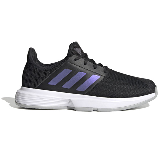 Adidas Gamecourt Womens Tennis Shoes (Core Black-Grey Two)