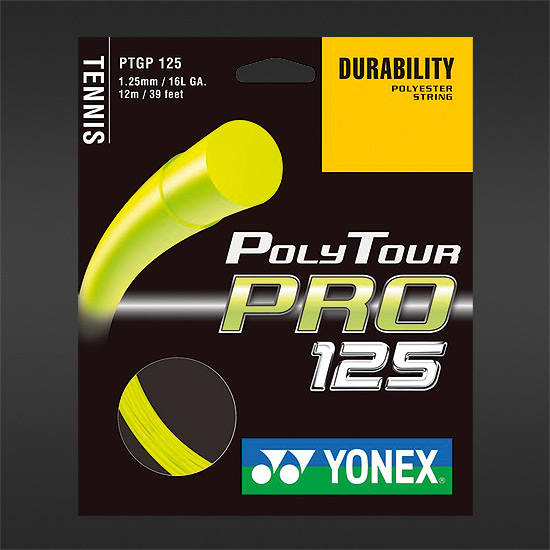 Yonex Poly Tour Pro 125 (Flash Yellow) 12 metres