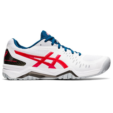 Asics Gel Challenger 12 Mens Tennis Shoes (Classic Red-White)