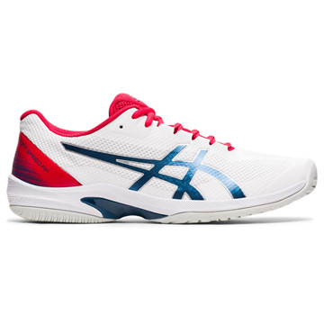 Asics Gel Court Speed FF Mens Tennis Shoes (White-Mako Blue)