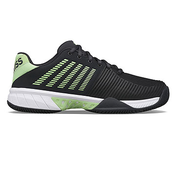 K-Swiss Express Light 2 HB Mens Tennis Shoes (Blue Graphite-Soft Neon Green-White)