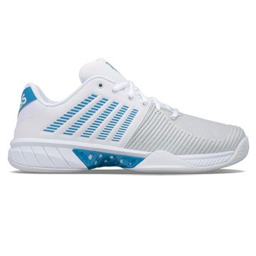 K-Swiss Express Light 2 Mens Tennis Shoes (White-Swedish Blue)