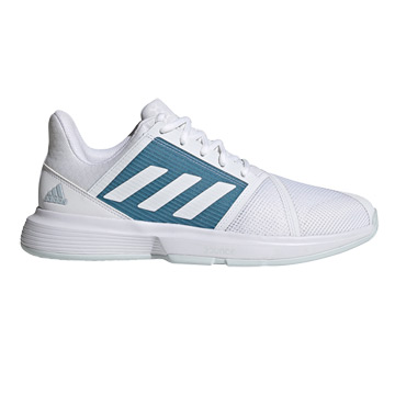 Adidas CourtJam Bounce Mens Tennis Shoes (White-Hazy Blue)